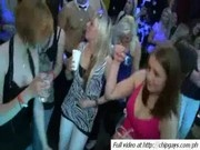 Cute chicks drinks on party
