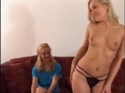 Mother and daughter fuck big cock stud