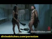 Femdom bdsm threesome toilet humiliated male slave