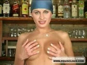 Cute Sexy Babe With Big Natural Tits Masturbates In Bar