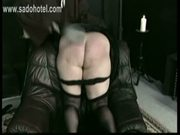 Naughty screaming nun got spanked very hard on her nice big