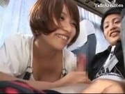 Asian Girls Sucking Guys Cocks While Travelling On The Bus