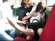 Young Girl In White Dress Getting Rapped By Many Guys On The Bus Tits Rubbed Pussy Licked Fingered