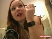 Cindy Red - Cute Teen Flashes Her Nipples