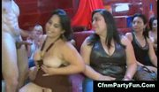 Cfnm babes sucking off stripper