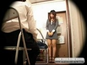 Asian Girl Sakura Strips for Mall Cop