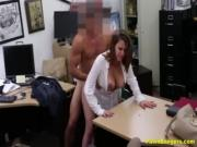 Busty Business Lady Negotiates With Her Pussy
