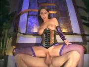 Brunette fucking in latex linge