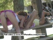 Lesbians having sex in public