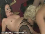 Mature lesbian Sandora licking Teen Kitty Cat