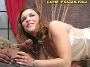 Katie tomas sucks black cock