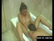 Young teen Lesbians in the shower - hot!