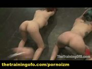 Two bdsm slaves training perverts pain and submission 3