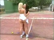 Lesbian sex at tennis club