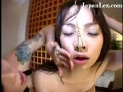 Cute Japanese Girl Bound and Covered in Hot Wax