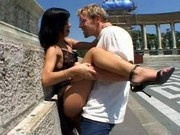 Angelina Crow - Shameless Public sex in Budapest