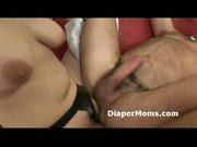 Redhead mature lady strapon fucks diaper wearing boy then gi