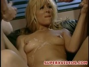 Double penetration with big dicks horny blonde Jill Kelly
