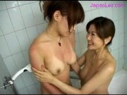 2 Girls Licking And Fingering Pussies While Taking Shower In The Bathroom
