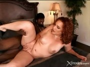 Redhead Slut Sucks And Fucks A Black Cock