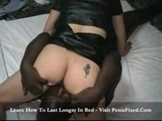 Inday - Asian girl gets black and white creampies
