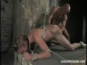 Bondage anal fetish vibrator