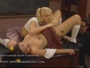 Rica - Two horny schoolgirls fuck with teacher 2