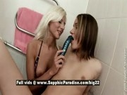 Nichol and Ashlie from sapphic erotica, stunning lesbians toying