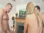 Tiny teen tyler stevens gets facial from two big men