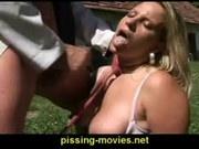 peeing blonde 2