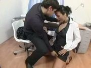 Simone peach gets anal at the office