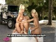 Katy and Deniska and Alana from sapphic erotica, lesbian teen babes fingering