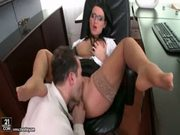 Hardcore fuck in the office with carmen