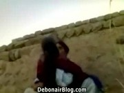 Horny Peshawari couple having sex outdoors MMS