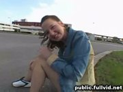 Teen flashes in public