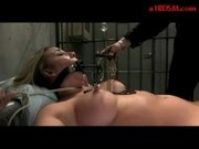 Girl Tied To Bed Pump In Mouth Nipple Clips Pussy Fucked With Toys By Master In The Dungeon