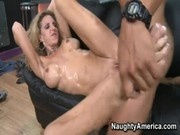 hot busty mature milf cougar roxanne hall seduces her younger customer