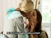 Judit and Juliette from sapphic erotica, lesbian girls undressing