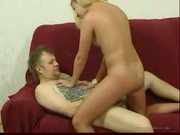 Horny blonde russian daughter fucked her own father