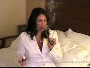 Ricki raxxx smokes a cigar