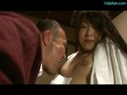 Asian Girl Kissing Getting Her Legs Licked Nipples Sucked On The Desk