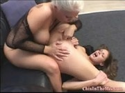 Lesbian action with Samantha Ryan and Jamie Brooks - Chix In The Mix