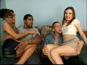Bianca and Katrina Fucked and Swapping at Her First Gangbang