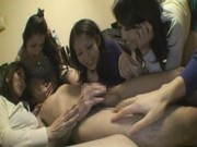 5 Japanese Matures On 1 Man Orgy