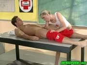 Hot blonde teen sex after swimming