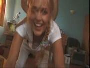 Blonde ExGirlfriend seduced on Webcam