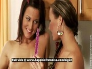 Simona and Nataly from sapphic erotica, lesbian teens anal toying