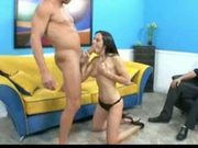 Winter sky gets banged in front of her husband