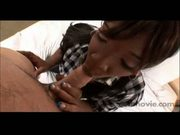 Hot ebony teen amateur gets banged by white cock
