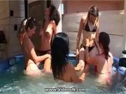 Pool Orgy - Bounch Load of Chicks